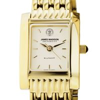 James Madison Women's Gold Quad with Bracelet