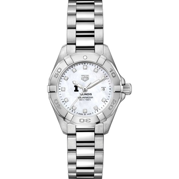 Illinois Women's TAG Heuer Steel Aquaracer with MOP Diamond Dial - Image 2