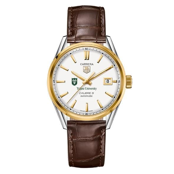 Tulane Men's TAG Heuer Two-Tone Carrera with Strap - Image 2