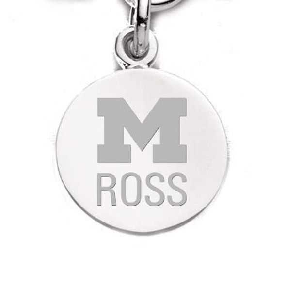 Michigan Ross Sterling Silver Charm