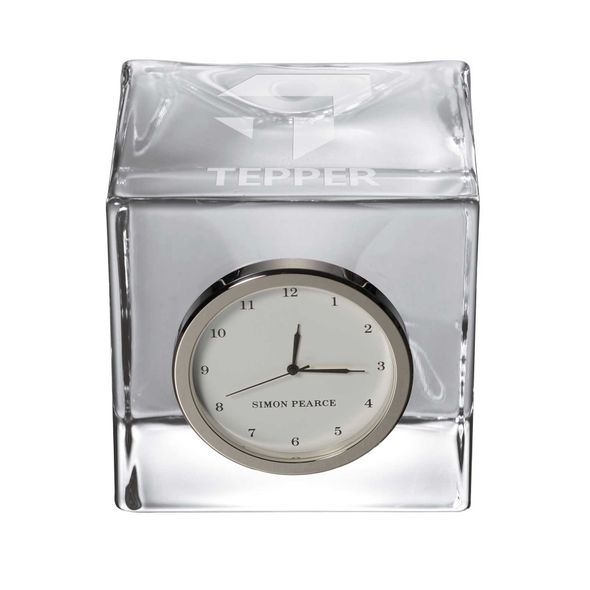 Tepper Glass Desk Clock by Simon Pearce - Image 1