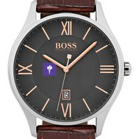 New York University Men's BOSS Classic with Leather Strap from M.LaHart