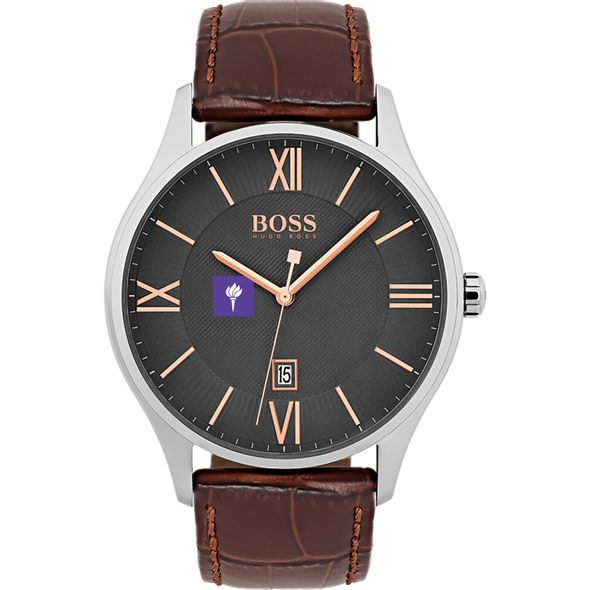 New York University Men's BOSS Classic with Leather Strap from M.LaHart - Image 2