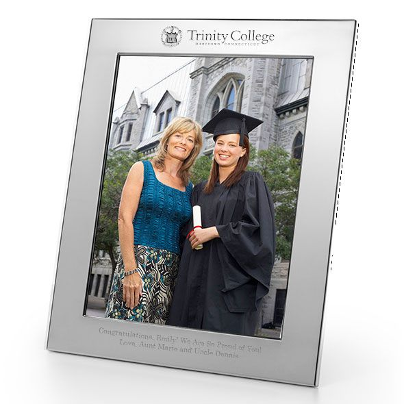 Trinity College Polished Pewter 8x10 Picture Frame