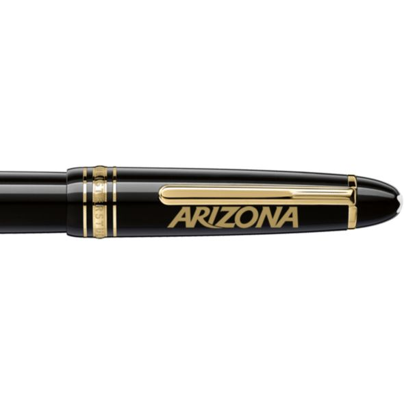 University of Arizona Montblanc Meisterstück LeGrand Rollerball Pen in Gold - Image 2
