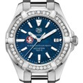 FSU Women's TAG Heuer 35mm Steel Aquaracer with Blue Dial - Image 1