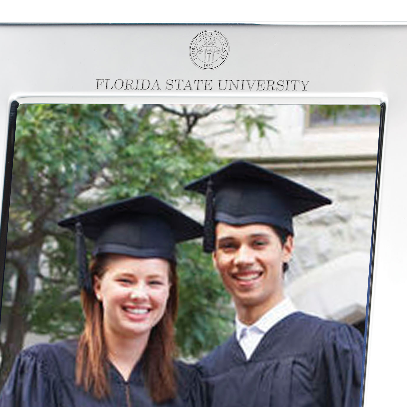 Florida State Polished Pewter 5x7 Picture Frame - Image 2