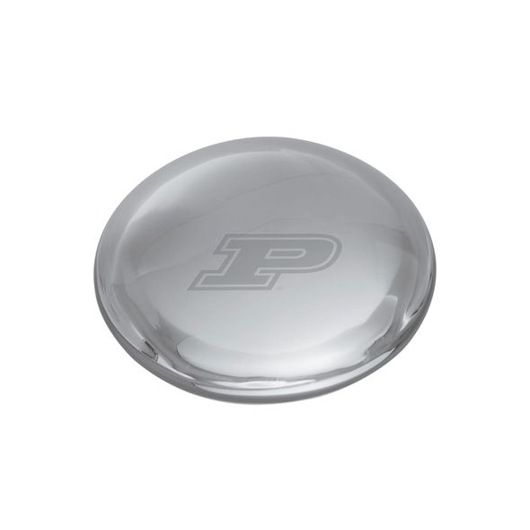 Purdue University Glass Dome Paperweight by Simon Pearce