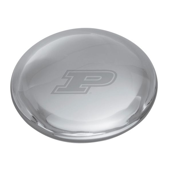 Purdue University Glass Dome Paperweight by Simon Pearce - Image 2