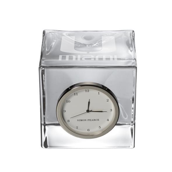 Miami Glass Desk Clock by Simon Pearce