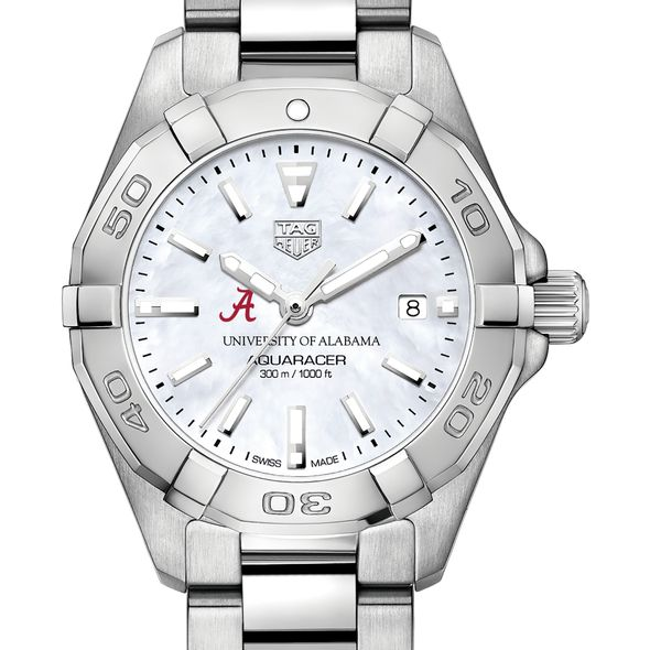 University of Alabama Women's TAG Heuer Steel Aquaracer w MOP Dial
