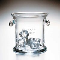 Texas McCombs Glass Ice Bucket by Simon Pearce