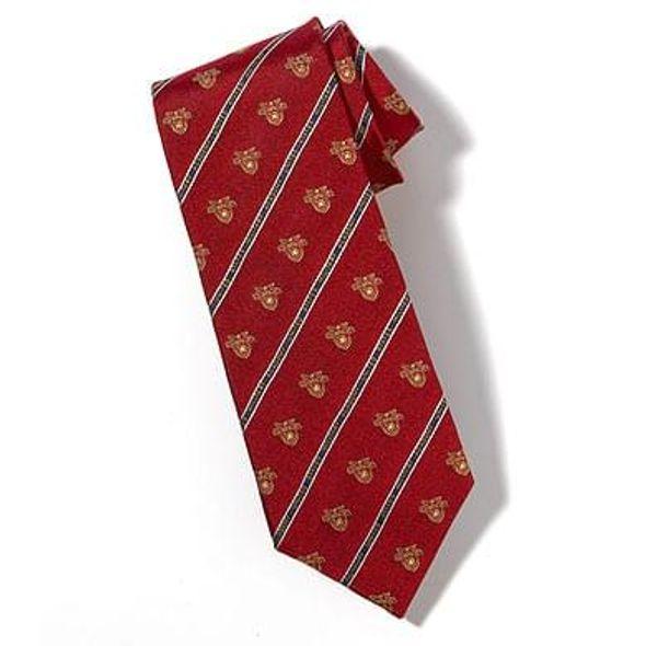 West Point Crest Tie in Red - Image 1