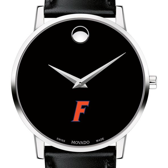 University of Florida Men's Movado Museum with Leather Strap - Image 1