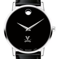 UVA Men's Movado Museum with Leather Strap