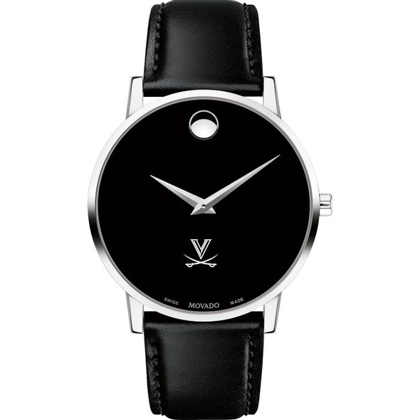 University of Virginia Men's Movado Museum with Leather Strap - Image 2