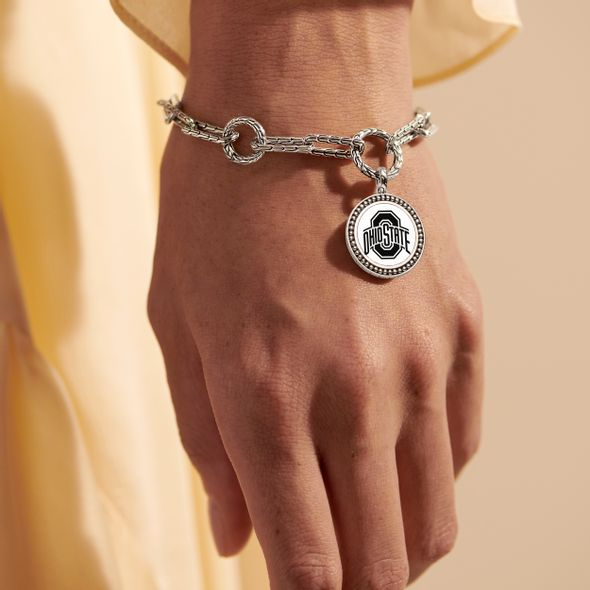 Ohio State Amulet Bracelet by John Hardy with Long Links and Two Connectors - Image 1