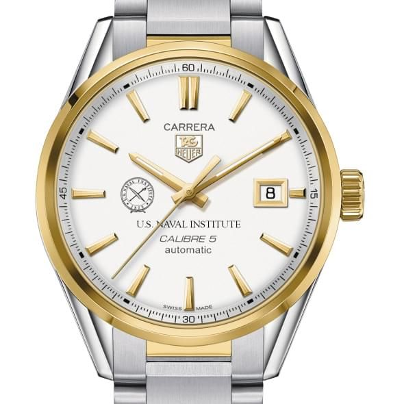 US Naval Institute Men's TAG Heuer Two-Tone Carrera with Bracelet