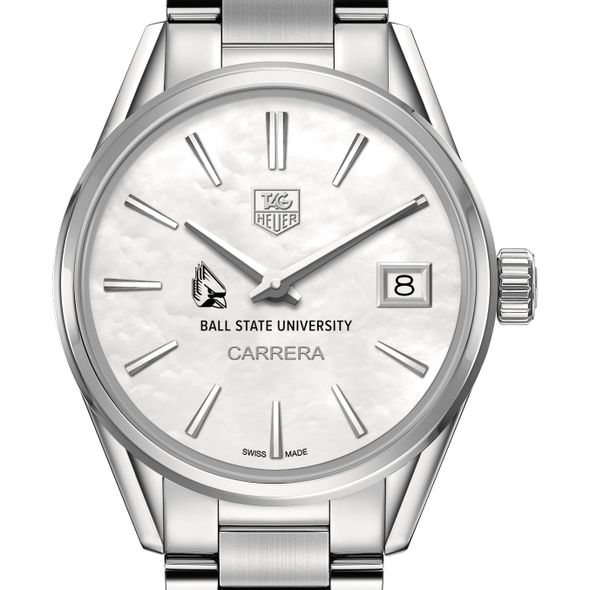Ball State Women's TAG Heuer Steel Carrera with MOP Dial - Image 1