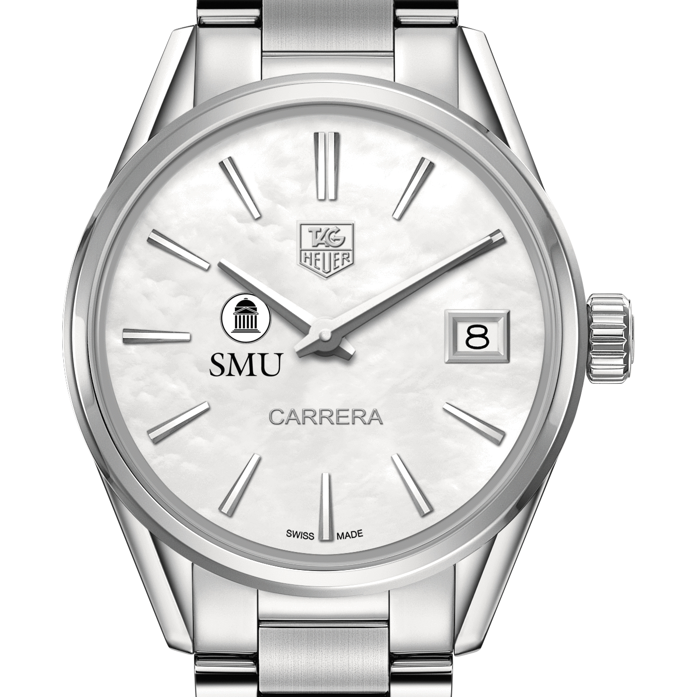 SMU Women's TAG Heuer Steel Carrera with MOP Dial