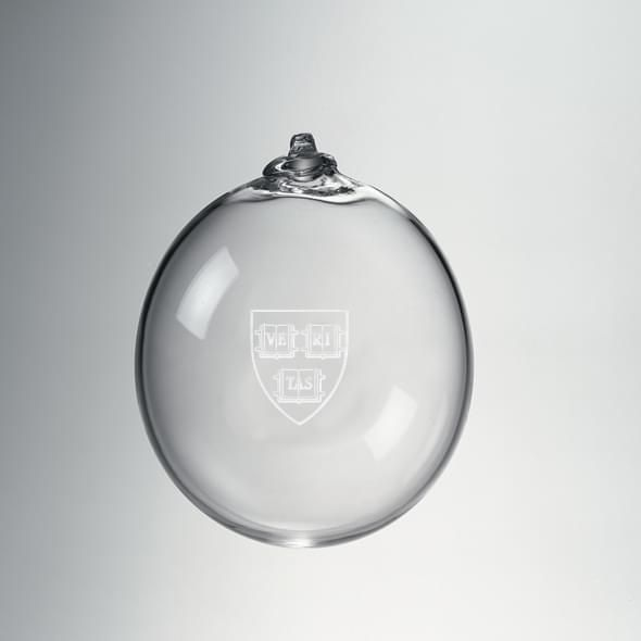Harvard Glass Ornament by Simon Pearce