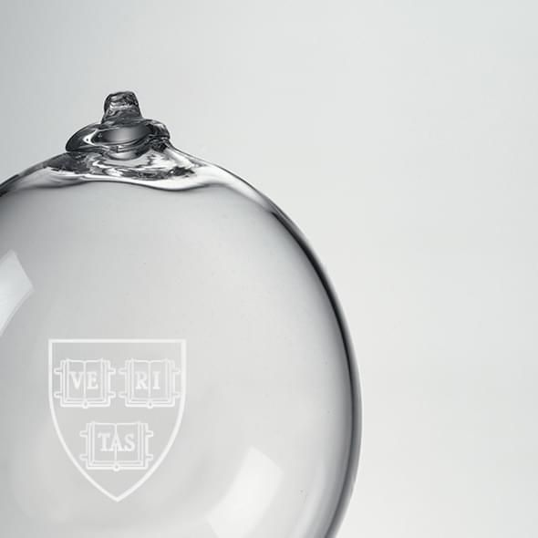 Harvard Glass Ornament by Simon Pearce - Image 2