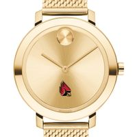 Ball State Women's Movado Bold Gold with Mesh Bracelet