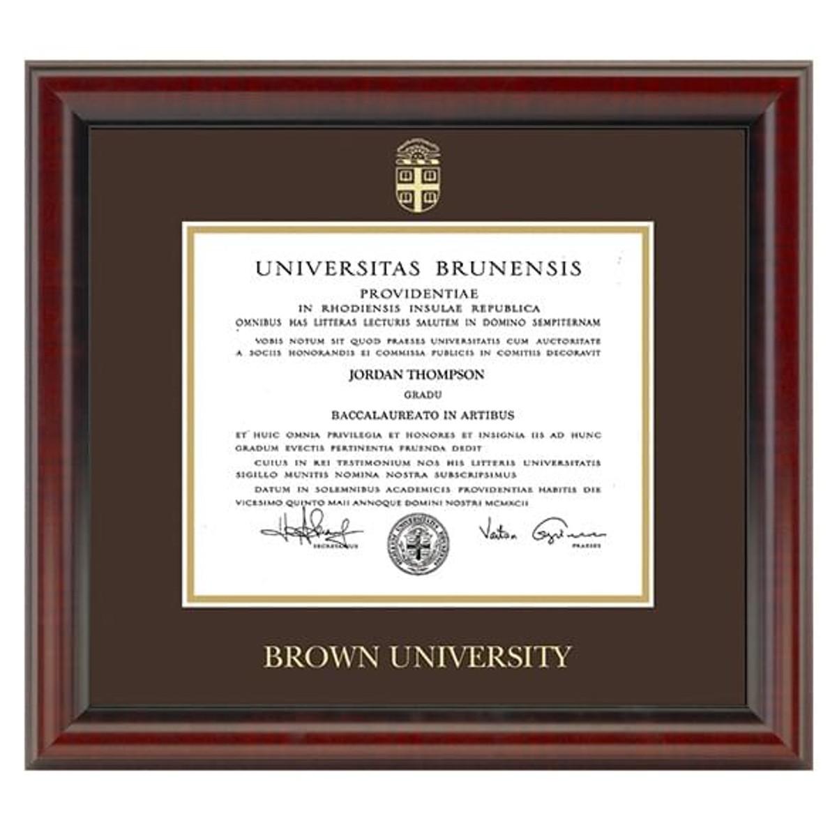 Official Brown University Diploma Frame The Fidelitas