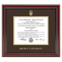 Brown University Diploma Frame, the Fidelitas