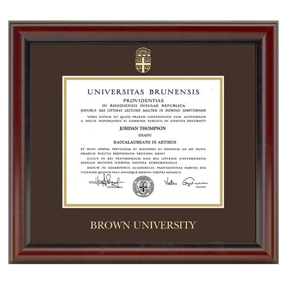 Official Brown University Diploma Frame, the Fidelitas - Graduation ...