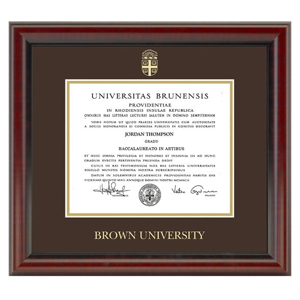 Official Brown University Diploma Frame, the Fidelitas - Graduation ...