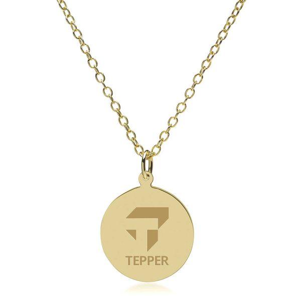 Tepper 14K Gold Pendant & Chain - Image 2