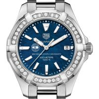 Michigan State Women's TAG Heuer 35mm Steel Aquaracer with Blue Dial