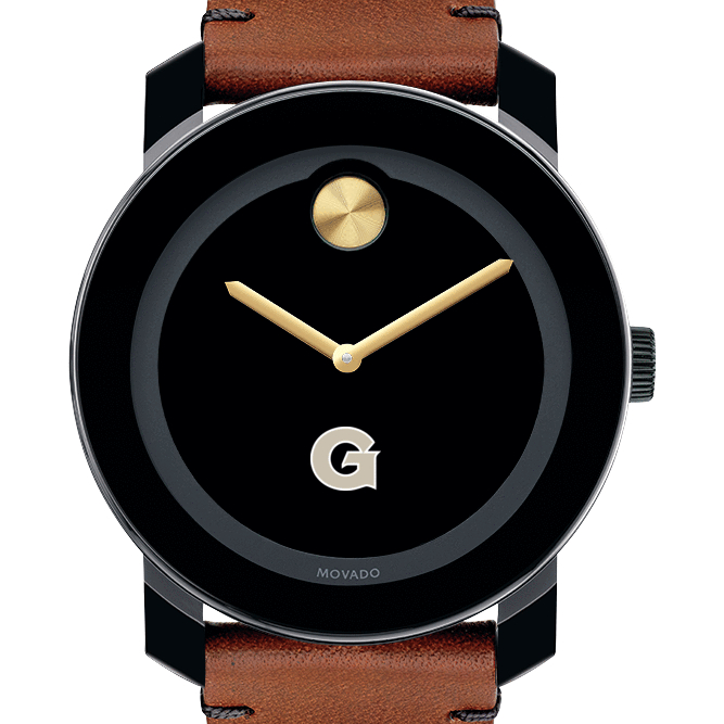 Georgetown Men's Movado BOLD with Brown Leather Strap