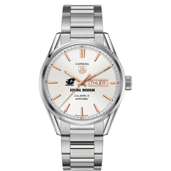 Central Michigan Men's TAG Heuer Day/Date Carrera with Silver Dial & Bracelet - Image 2