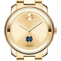 University of Notre Dame Men's Movado Gold Bold