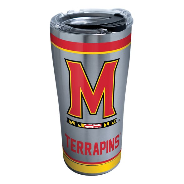 Maryland 20 oz. Stainless Steel Tervis Tumblers with Hammer Lids - Set of 2 - Image 1