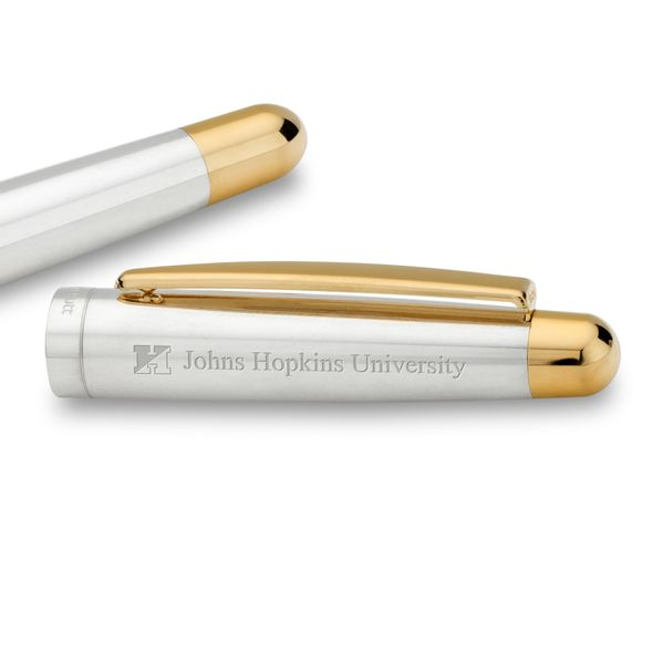 Johns Hopkins University Fountain Pen in Sterling Silver with Gold Trim - Image 2
