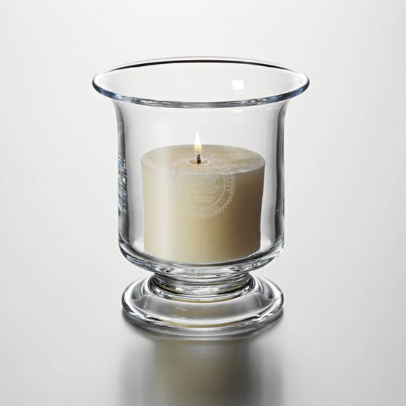 George Mason University Hurricane Candleholder by Simon Pearce