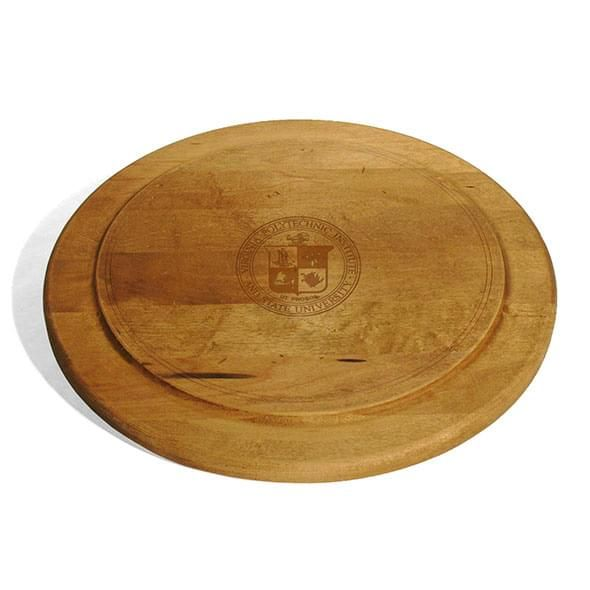 Virginia Tech Round Bread Server