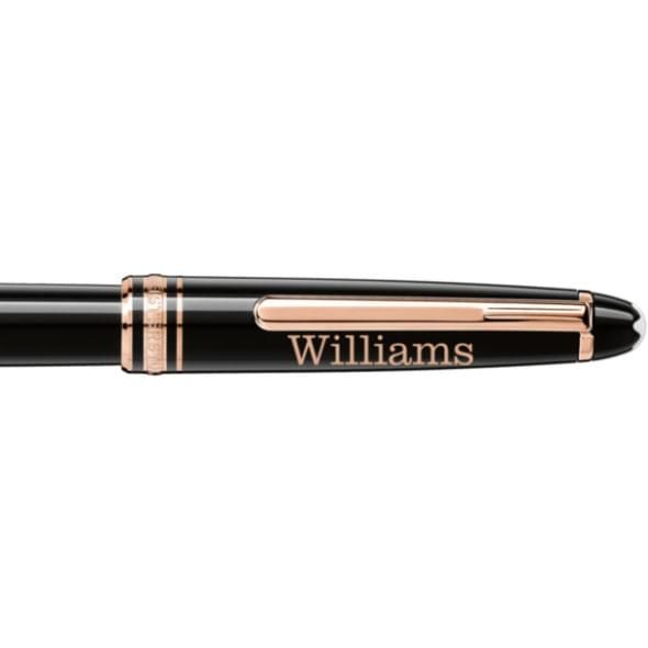 Williams College Montblanc Meisterstück Classique Rollerball Pen in Red Gold - Image 2