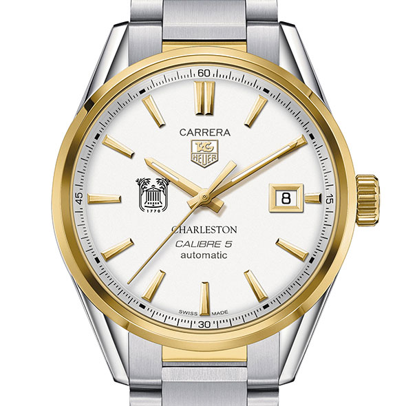 College of Charleston Men's TAG Heuer Two-Tone Carrera with Bracelet