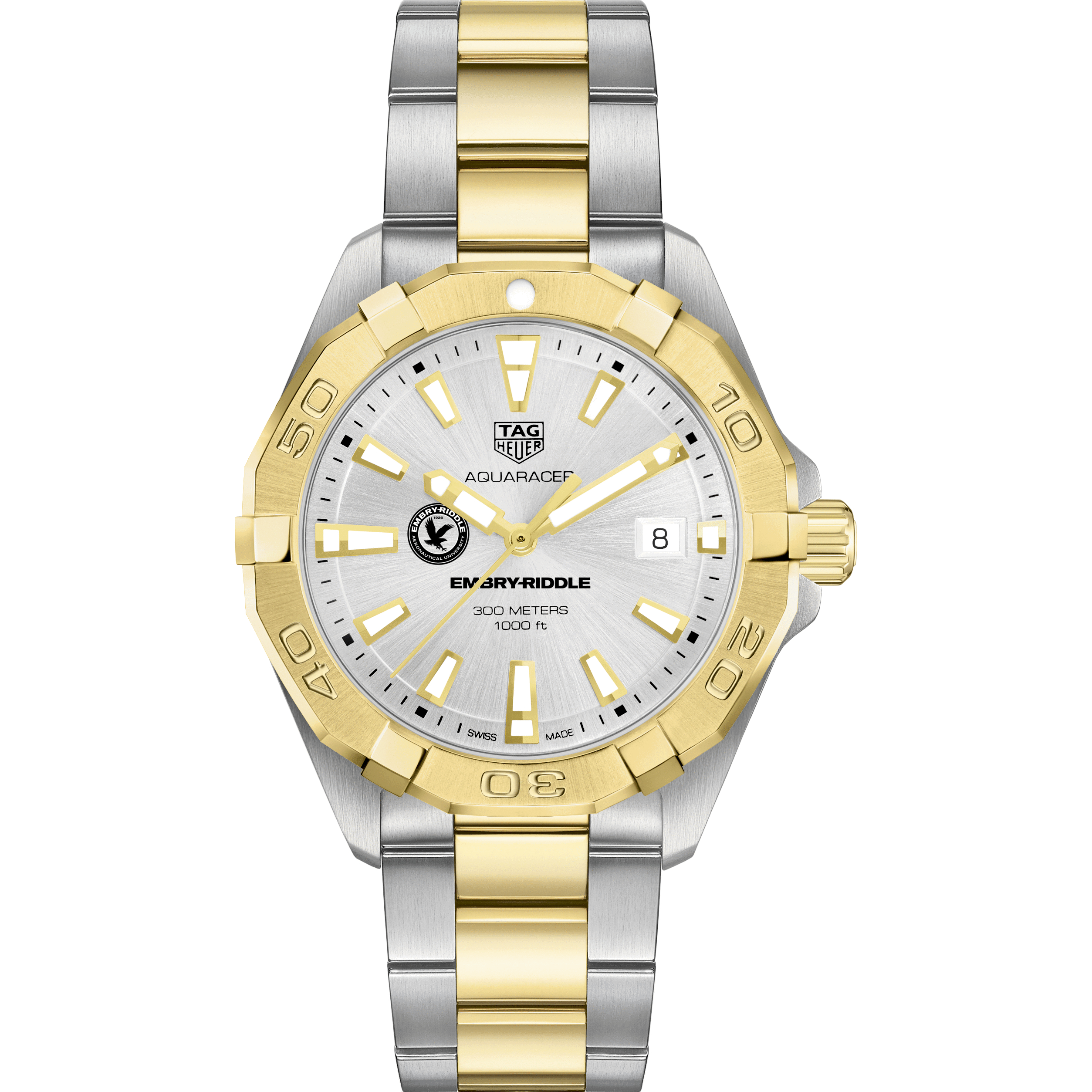 Embry-Riddle Men's TAG Heuer Two-Tone Aquaracer - Image 2