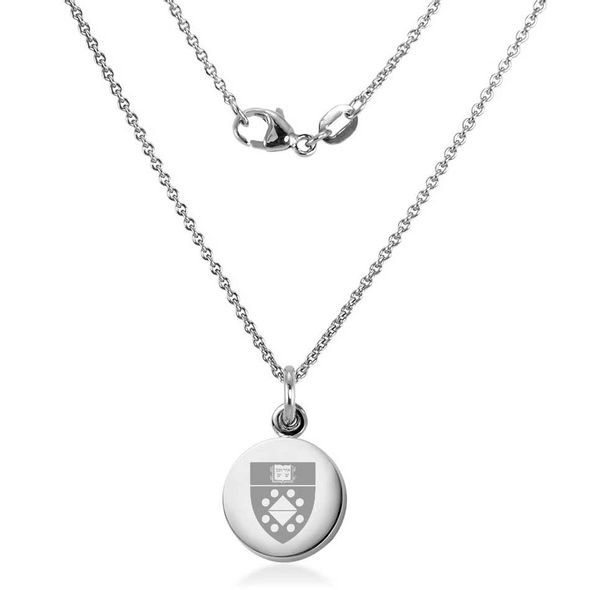 Yale SOM Necklace with Charm in Sterling Silver - Image 1