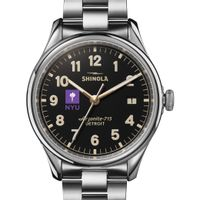 NYU Shinola Watch, The Vinton 38mm Black Dial
