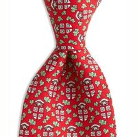 Brown University Vineyard Vine tie in Red