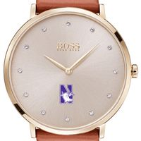 Northwestern University Women's BOSS Champagne with Leather from M.LaHart