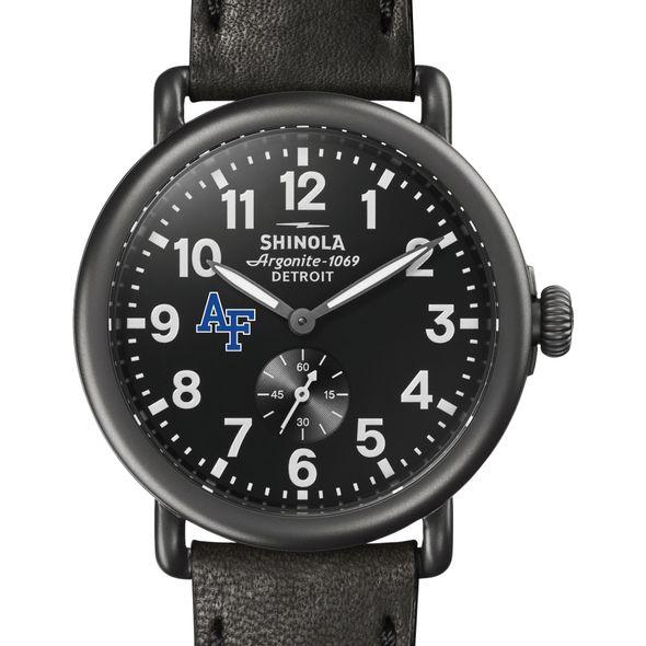 USAFA Shinola Watch, The Runwell 41mm Black Dial - Image 1
