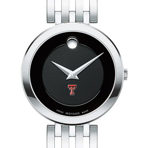 Texas Tech Women's Movado Esparanza Stainless Steel Museum with Bracelet