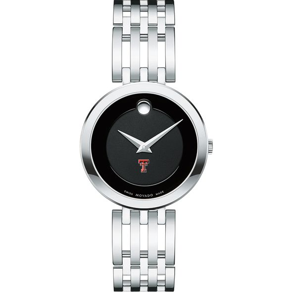 Texas Tech Women's Movado Esparanza Stainless Steel Museum with Bracelet - Image 2